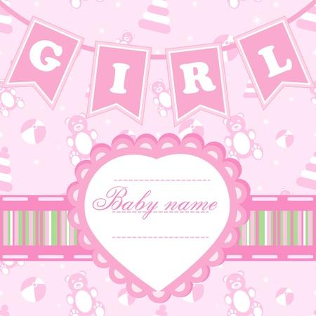 born: Postcard for girl