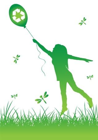 recycling symbol: Ecology background Illustration