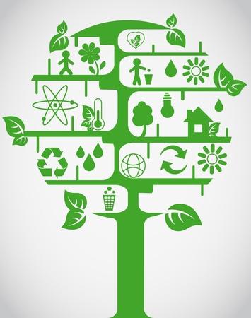 logo ordinateur: Arbre de l'écologie