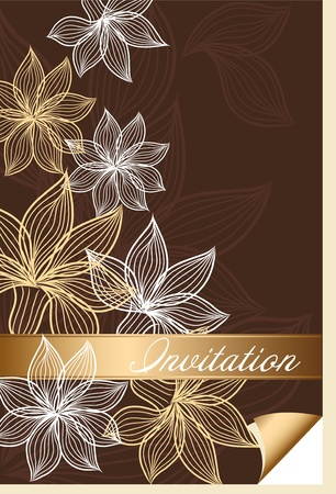Flower postcard Vector