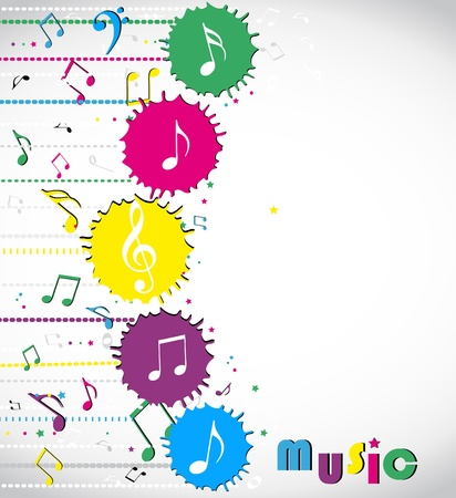 horizontal lines: Music notes background