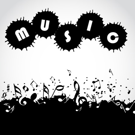 quarters: Music notes background