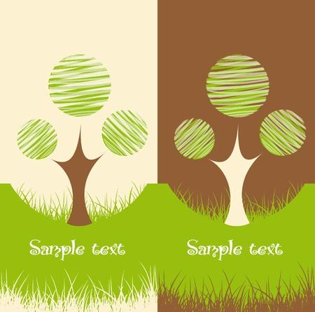 logo recyclage: Ensemble de deux milieux naturels
