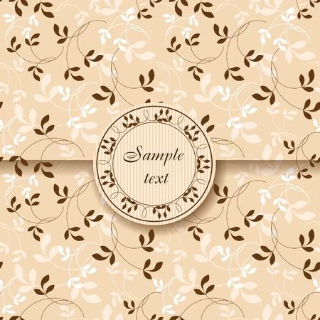 Vintage floral postcard Stock Vector - 10555926