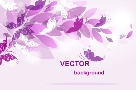 clean background: Vector background with butterflies