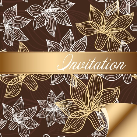 invitation card: Floral postcard