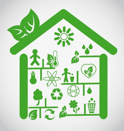 Ecological house Vector