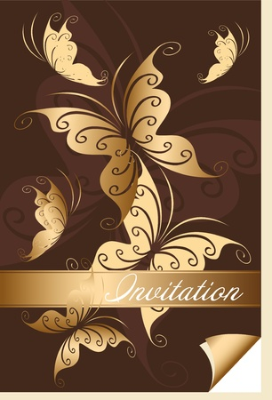 Postcard with butterflies Vector