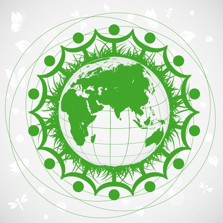 Ecological planet Vector