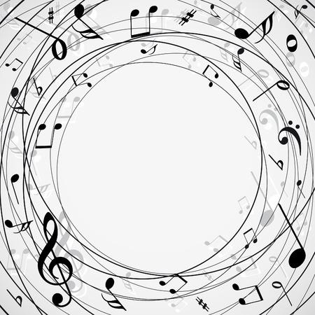 clave de fa: Fondo de notas musicales Vectores