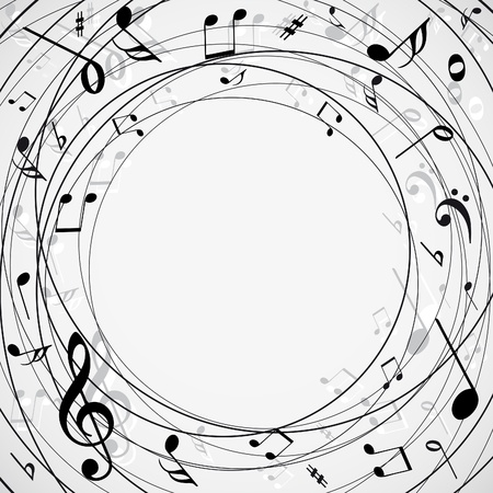 treble clef: Musical notes background