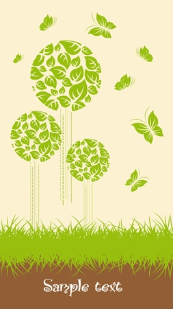 Ecological trees Stock Vector - 10555834