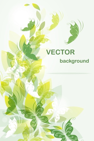 Ecological background with butterflies Stock Vector - 10555901