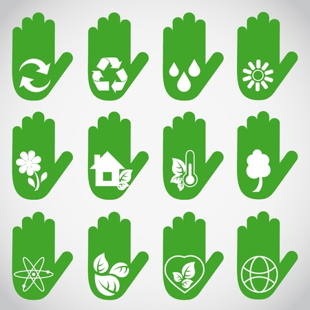 Ecological hands Vector