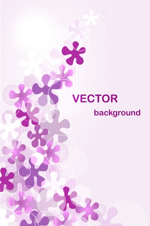 flower close up: Vector background with flowers Illustration