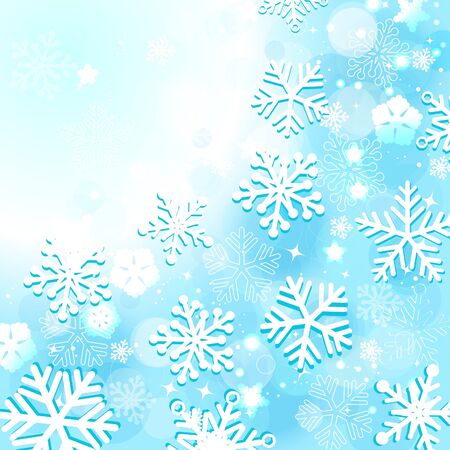 blue christmas background with snowflakes Stock Vector - 10703565