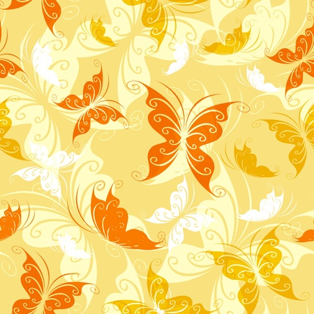 Seamless from color butterflies Vector