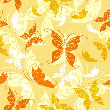 Sin problemas de mariposas de colores Ilustración de vector
