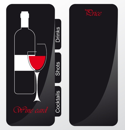 menu card design: Templates of alcohol card Illustration