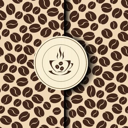 coffee beans: Template Coffee shop menu Illustration