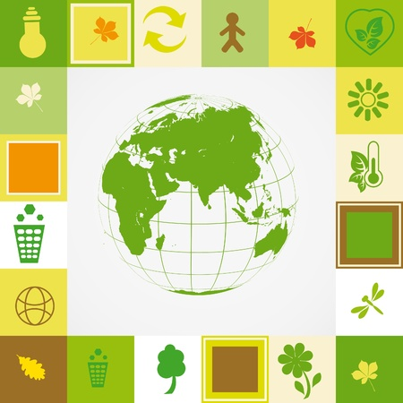 Ecological card Stock Vector - 10908037