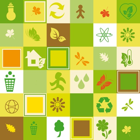 recycle logo: Ecological seamless