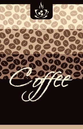 menu card design: Template Coffee shop menu Illustration