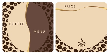 Template Coffee shop menu Stock Vector - 10908027
