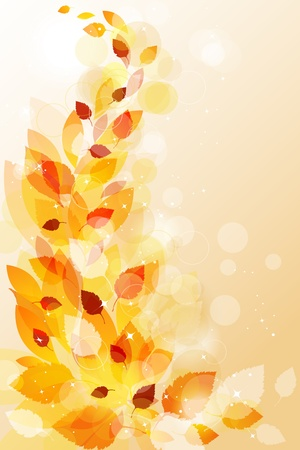 defoliation: Autumn leaves background
