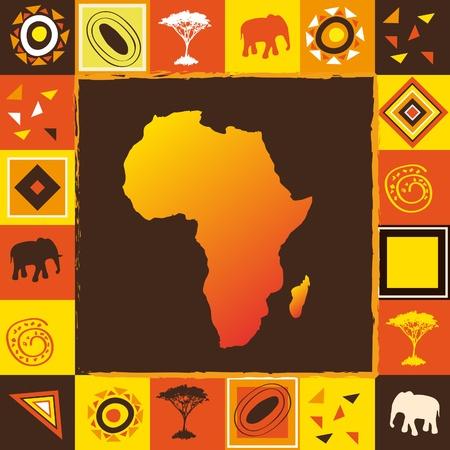 ilustraciones africanas: Fondo de África