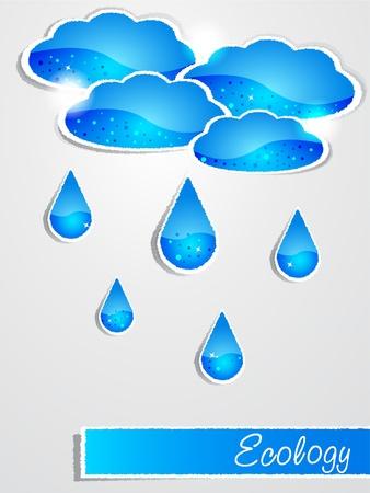 kropla deszczu: Deszcz papier Ilustracja