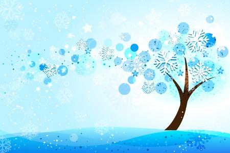 estaciones del año: De fondo de invierno Vectores