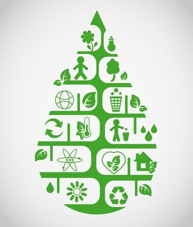 logo recyclage: Déposer écologique Illustration