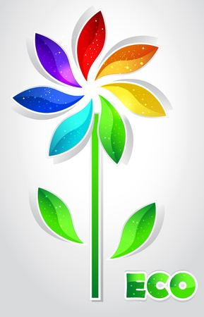 Color flower Vector