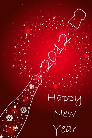 New year 2012 card Vector