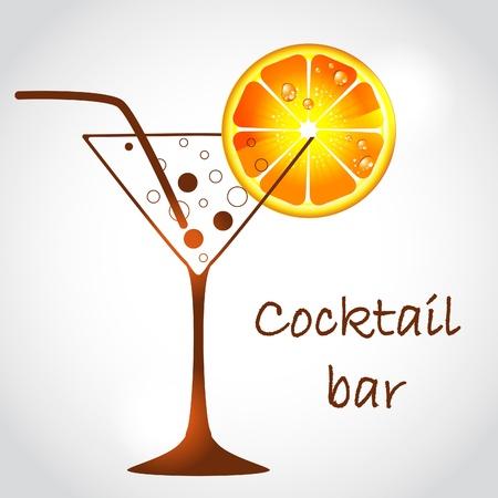 alcoholist: cocktailglas Stock Illustratie