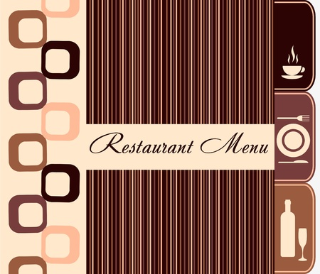 restaurant eating: Template of restaurant menu