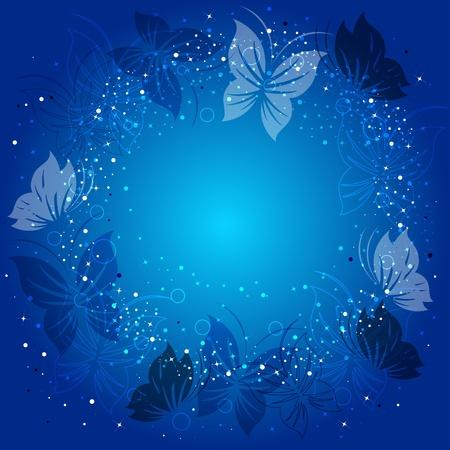 mariposa azul: Ecológica de fondo con las mariposas