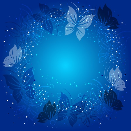 Ecological background with butterflies Vector