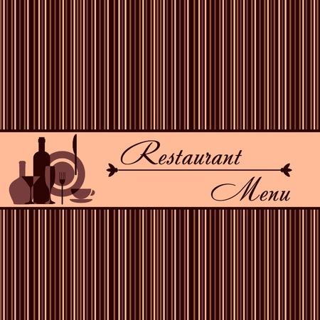 gourmet dinner: Template of restaurant menu