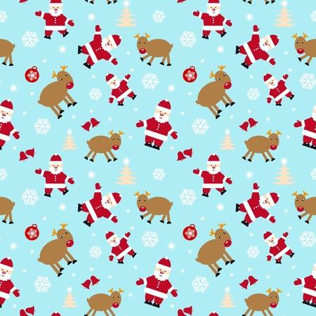 christmas seamless pattern: Christmas seamless