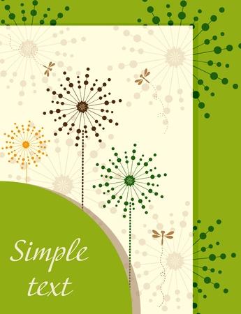 Ecological booklet with dandelions Vector