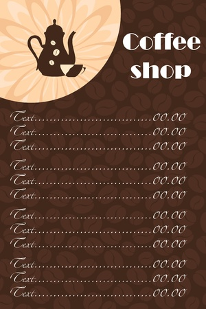 Template of a coffee shop Stock Vector - 12223667