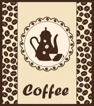 Template of a coffee shop Vector