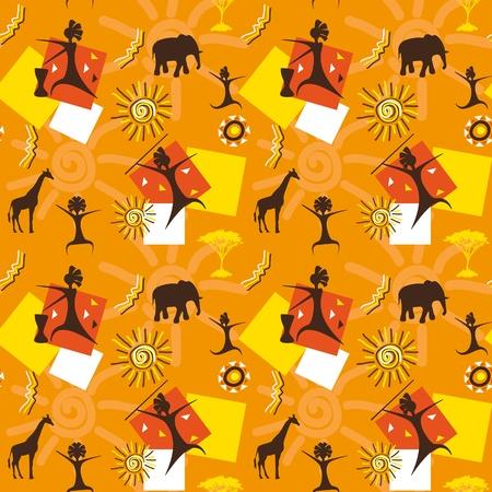 African seamless Stock Vector - 12223677