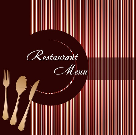 dinner party table: Template of a restaurant menu Illustration