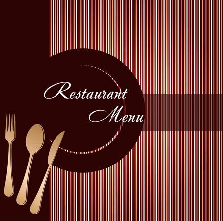gourmet dinner: Template of a restaurant menu Illustration