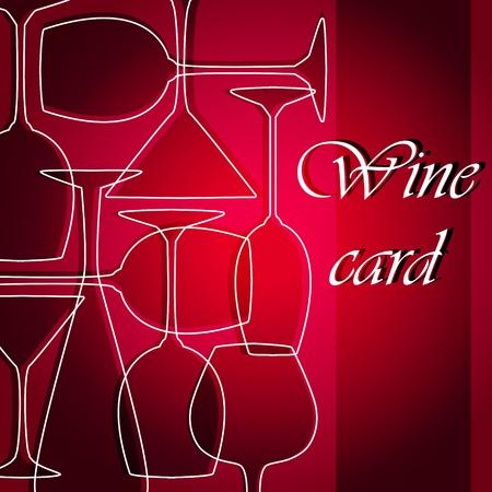celebrate life: Template of alcohol card Illustration