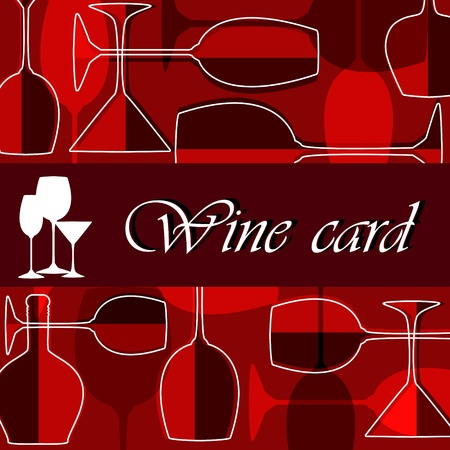 wine list: Template of alcohol card Illustration