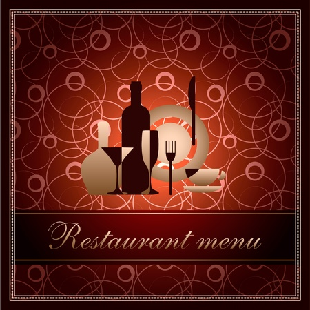 luxury template for restaurant menu Vector